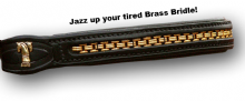 Padded Browband with Brass Chain